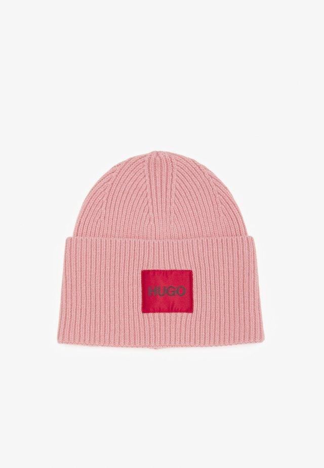 XAFF RIBBED LOGO - Beanie - dark pink