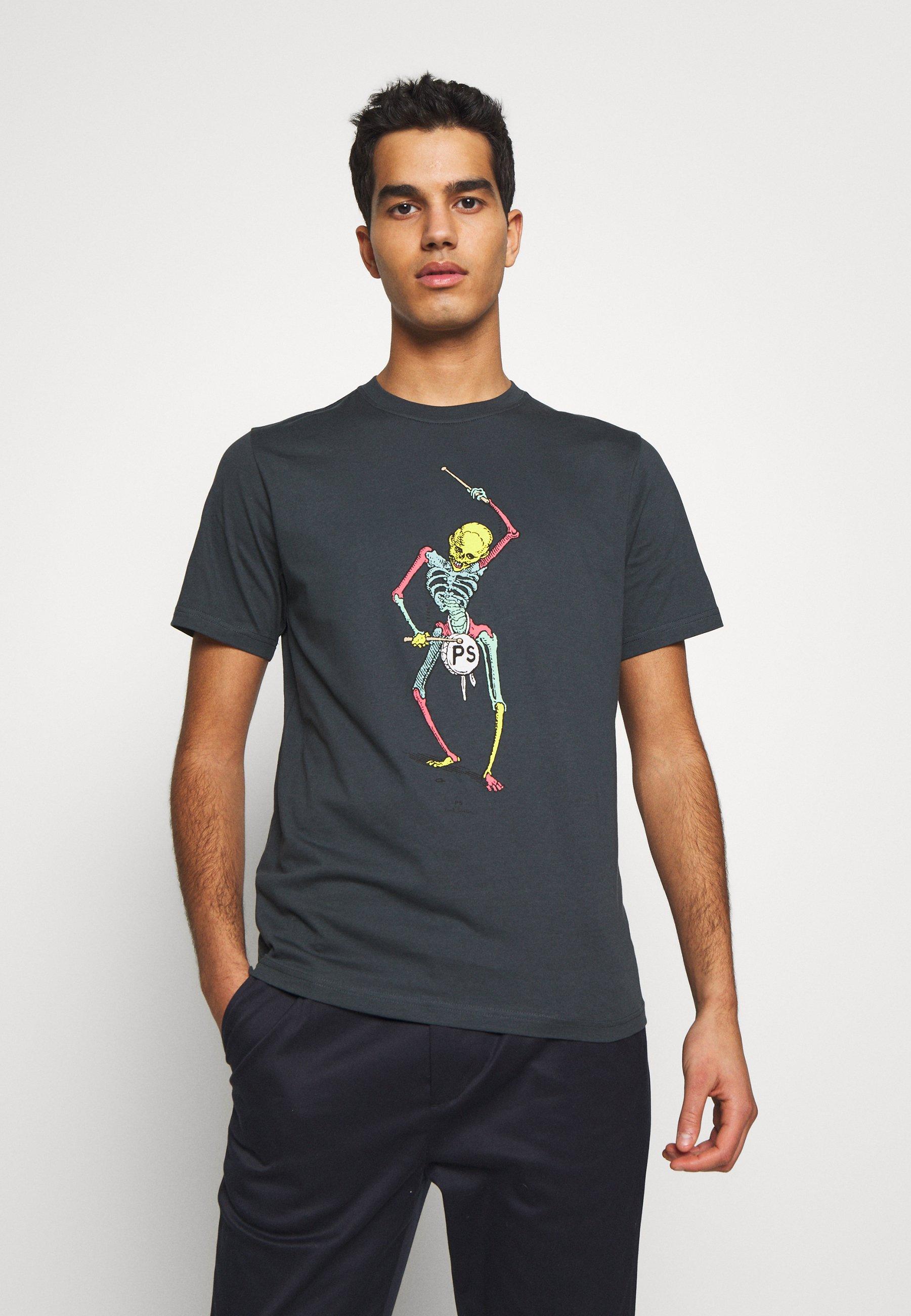 Homme DRUM SKELETON - T-shirt imprimé
