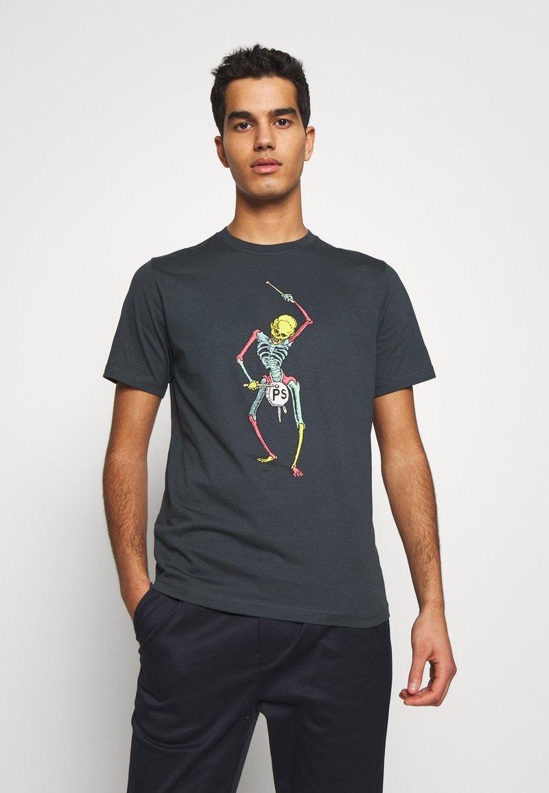 PS Paul Smith - DRUM SKELETON - Print T-shirt - dark grey