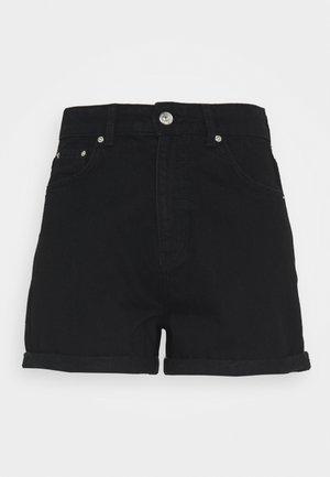 DAGNY MOM - Jeansshorts - black