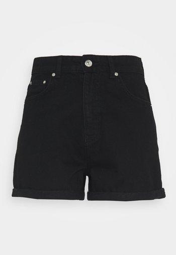 DAGNY MOM - Shorts vaqueros - black