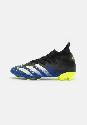 PREDATOR FREAK .2 FG - Moulded stud football boots - core black/footwear white/solar yellow