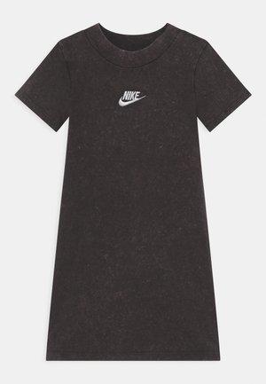 WASHED MOCKNECK DRESS - Jersey dress - dark grey