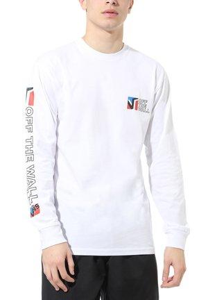 MN DIMENSIONS LS - T-shirt z nadrukiem - white