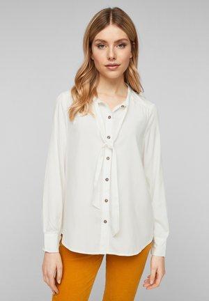 MIT SCHLUPPE - Button-down blouse - offwhite