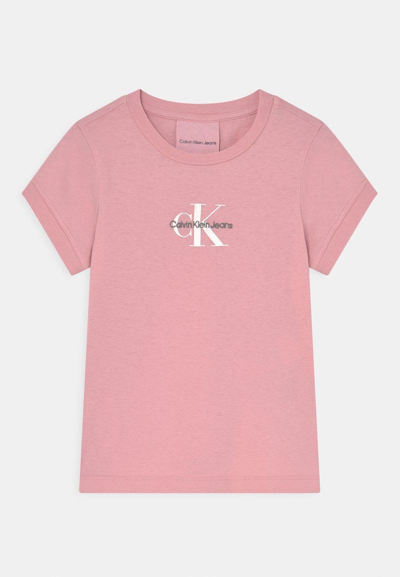 Calvin Klein Jeans - SLIM FIT TEE - Triko spotiskem - light pink
