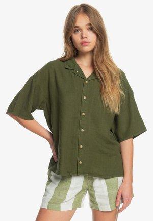 SURF CAMP - Button-down blouse - winter moss
