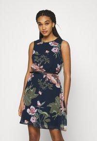 Vero Moda - VMKATNISS SHORT DRESS - Day dress - navy blazer/katniss - 0