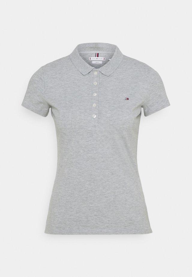 SHORT SLEEVE SLIM - Polo shirt - light grey heather
