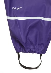 CeLaVi - RAINWEAR SUIT BASIC SET WITH FLEECE LINING - Rain trousers - purple - 4