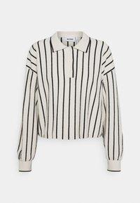 HELGA - Jumper - white/ black stripe