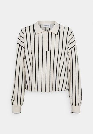 HELGA - Jumper - white/ black stripe