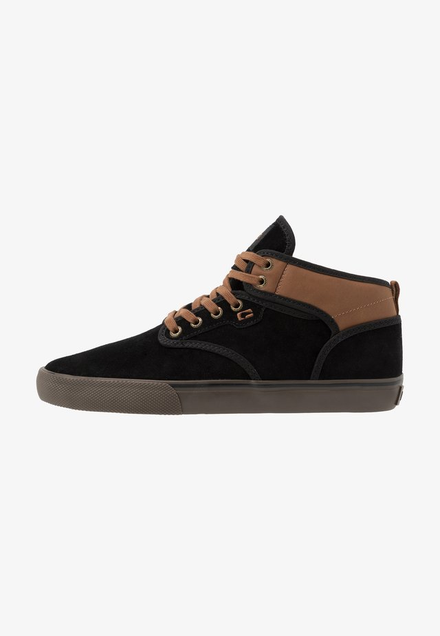 MOTLEY MID - Skate shoes - black/toffee
