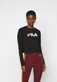 Fila Tall - MARCELINE LONG SLEEVED CROPPED - Long sleeved top - black - 0