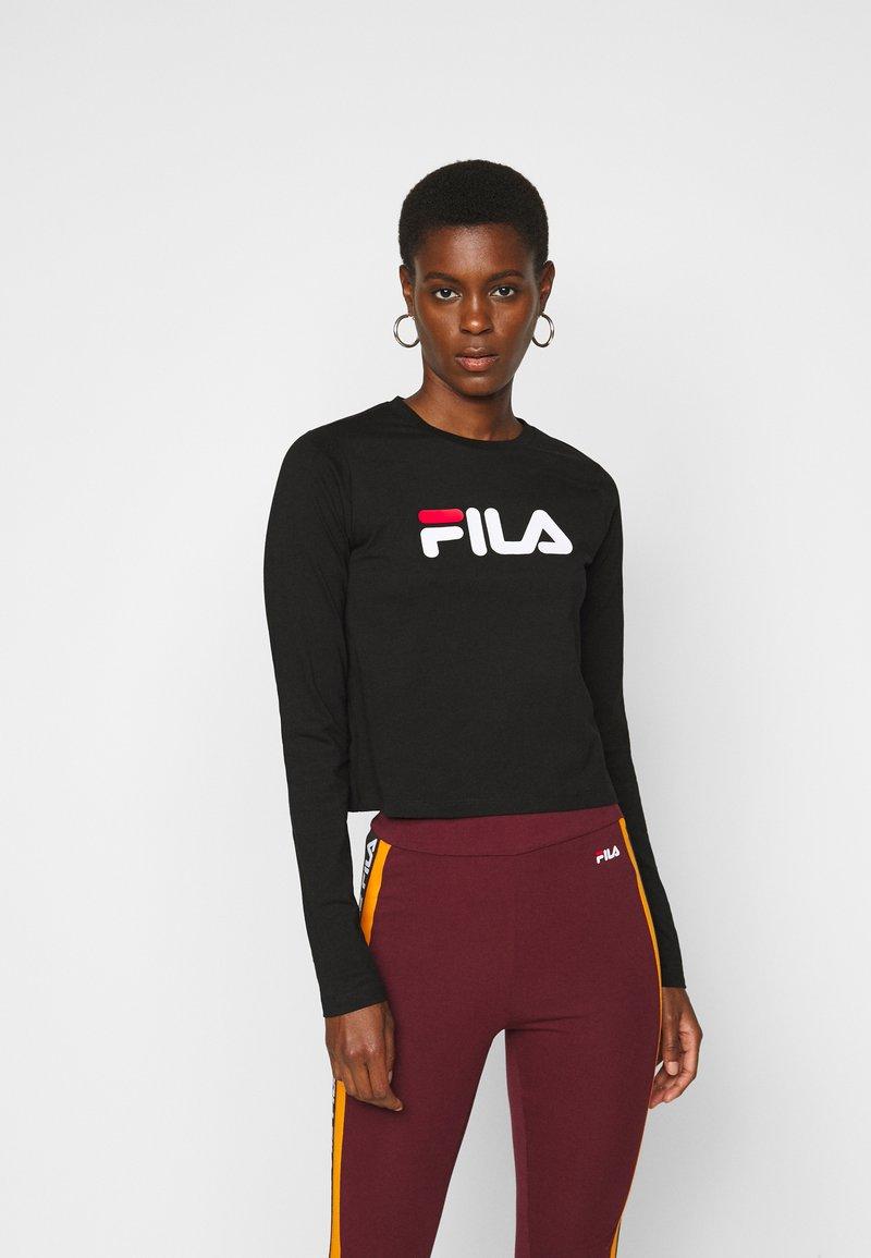 Fila Tall - MARCELINE LONG SLEEVED CROPPED - Long sleeved top - black