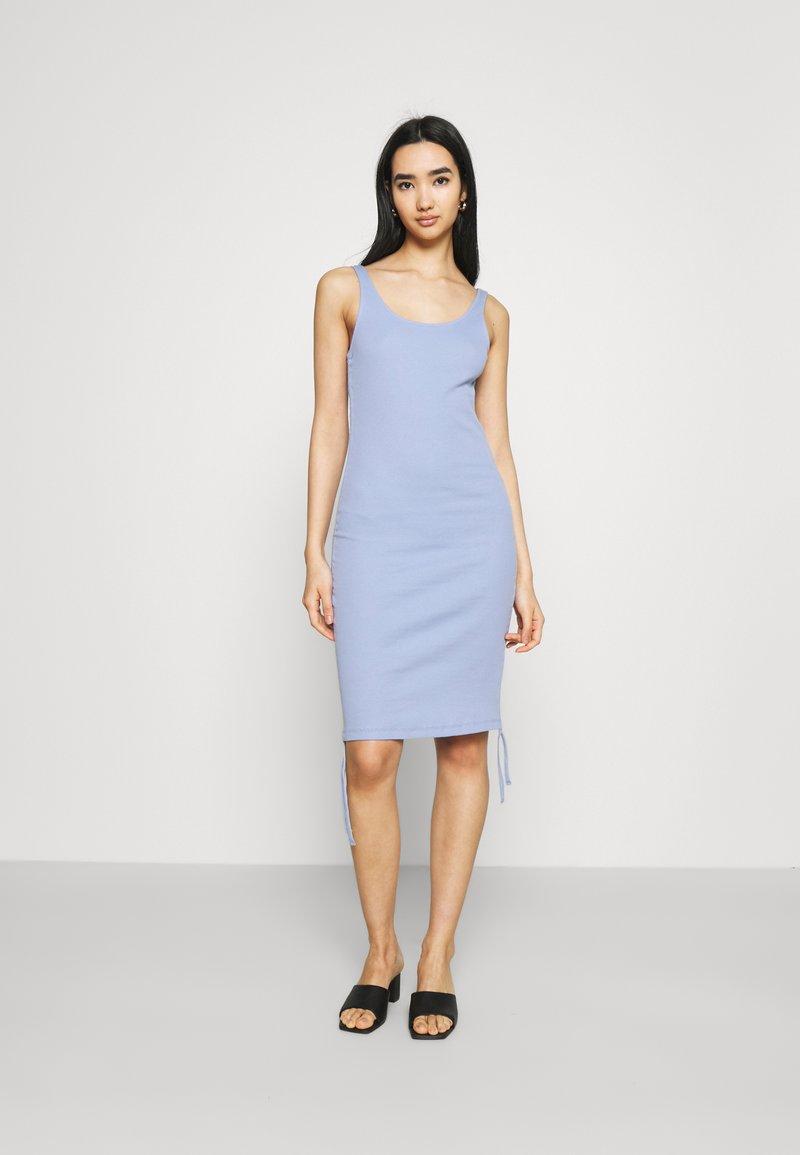 Noisy May - NMSTINE ROUCHING DRESS - Jersey dress - purple impression