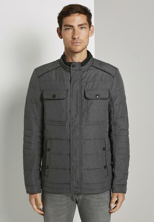 Light jacket - grey woven melange