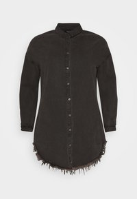 Missguided Plus - OVERSIZED - Button-down blouse - black - 5