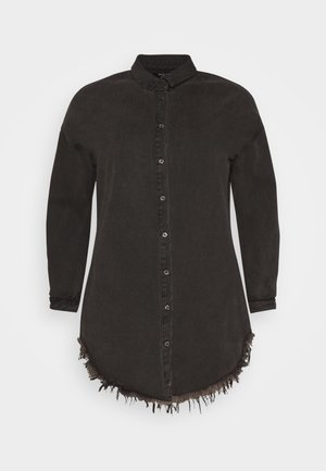 OVERSIZED - Button-down blouse - black
