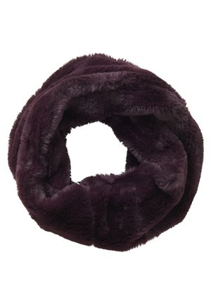 MIT PAILLETTEN - Snood - dark aubergine