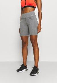 Nike Performance - ONE SHORT 2.0 - Collants - iron grey/heather/white - 0