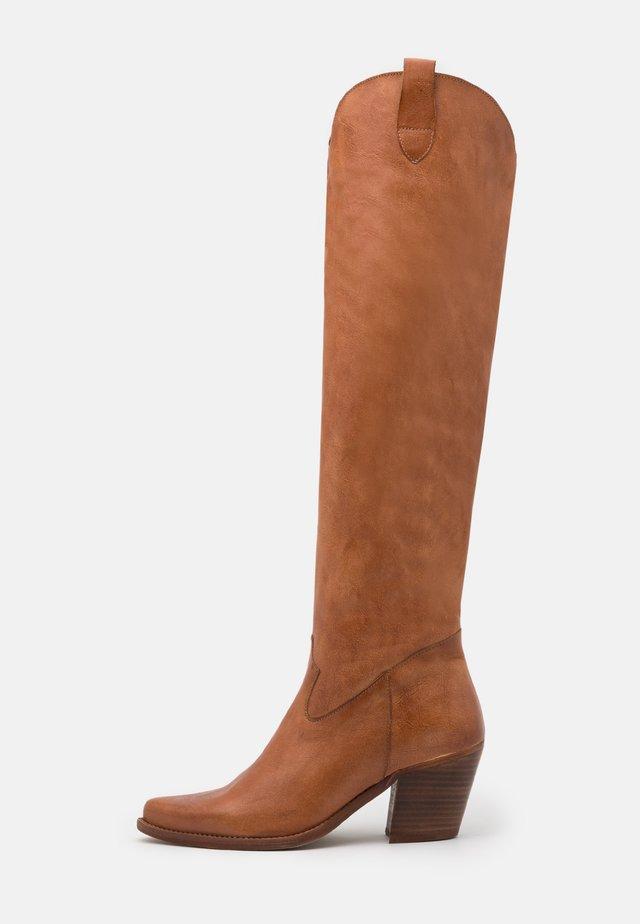 LAREDO - Over-the-knee boots - tierra