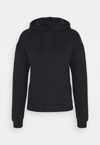 Even&Odd - OVERSIZED HOODIE WITH POCKETS AND SIDE SLITS - Hoodie - black - 4