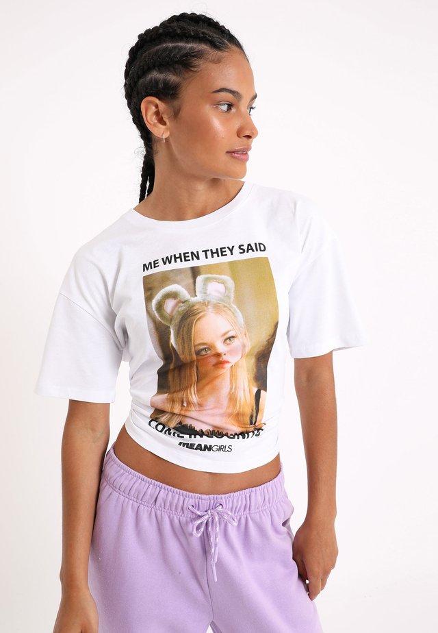 T-shirt con stampa - naturweiß