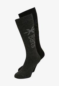 Barts - BASIC 2 PACK - Knee high socks - anthracite/black - 0