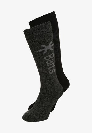 BASIC 2 PACK - Knee high socks - anthracite/black