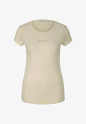LOGO - Printtipaita - soft creme beige