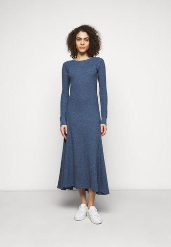 WAFFLE - Jumper dress - river blue heather