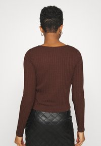 Nly by Nelly - BUTTON UP - Gilet - brown - 2