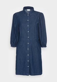 Vila - VITOMA DAIZY SLEEVE DRESS - Shirt dress - dark blue denim - 3