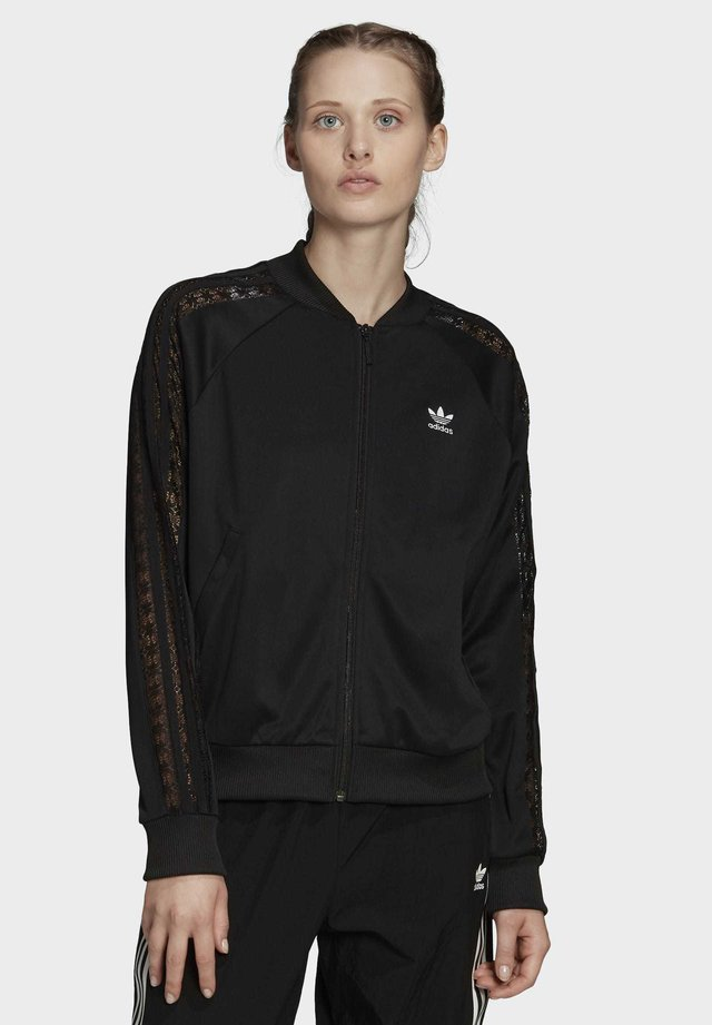 LACE TRACK TOP - Giubbotto Bomber - black