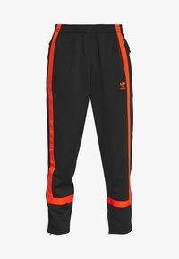 adidas Originals - WARMUP - Tracksuit bottoms - black/corang - 3