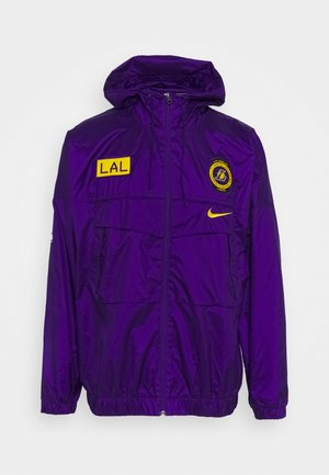 NBA LA LAKERS COURTSIDE LIGHTWEIGHT JACKET - Klubbkläder - field purple