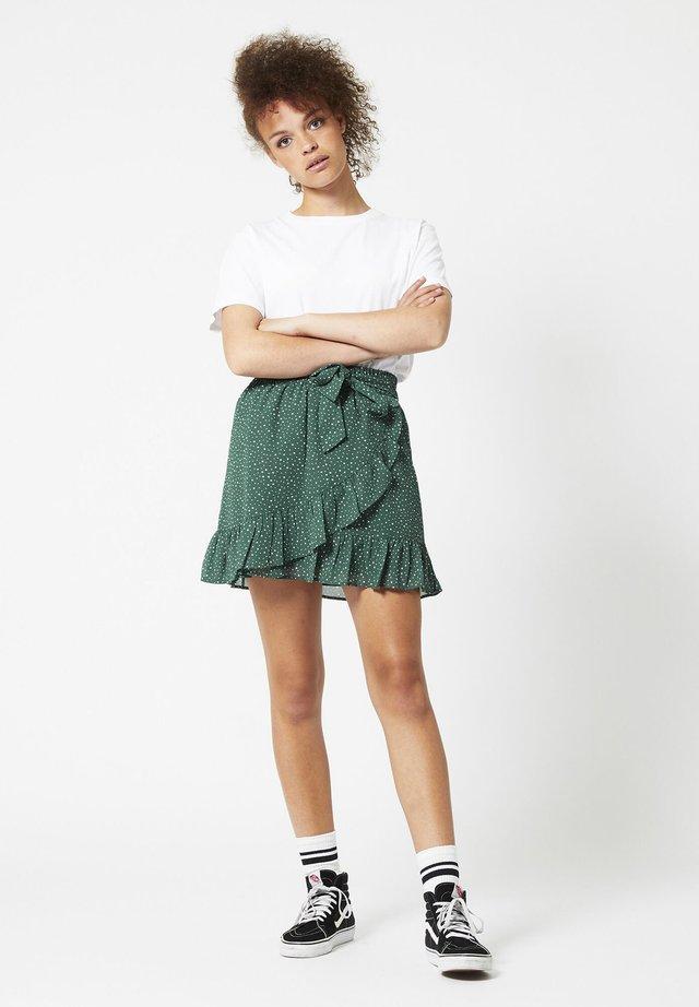 ROSE-ANN - A-line skirt - bottle green