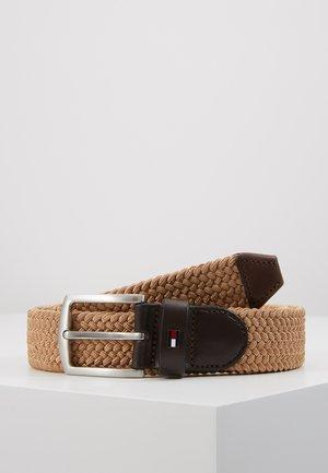 DENTON  - Braided belt - beige