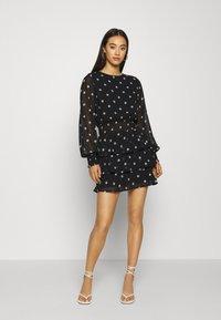 Gina Tricot - ALVA DRESS EXCLUSIVE - Day dress - black/white - 1