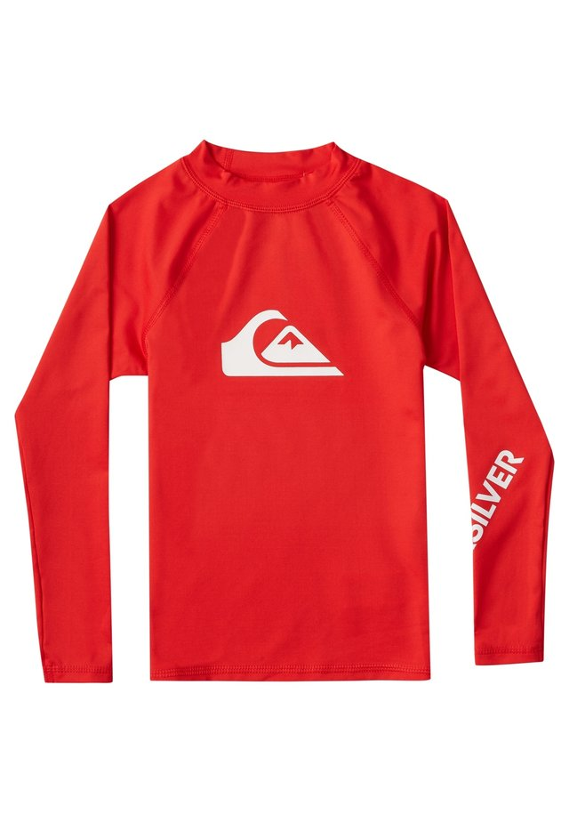 QUIKSILVER™ ALL TIME - LANGÄRMLIGER RASHGUARD MIT UPF 50 FÜR JUN - Rash vest - high risk red