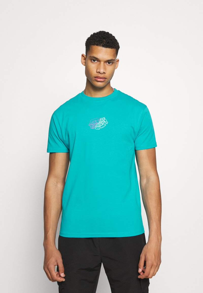 Santa Cruz - UNIVERSAL DOT UNISEX - T-shirt imprimé - aqua