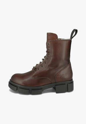 Lace-up ankle boots - dark-brown