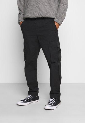 WEBBING - Cargo trousers - black