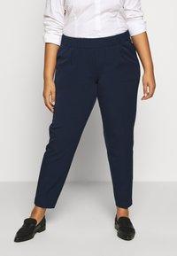 MY TRUE ME TOM TAILOR - SLEEK SUIT PANTS - Bukse - real navy blue - 0