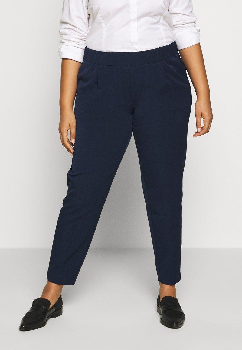 MY TRUE ME TOM TAILOR - SLEEK SUIT PANTS - Bukse - real navy blue