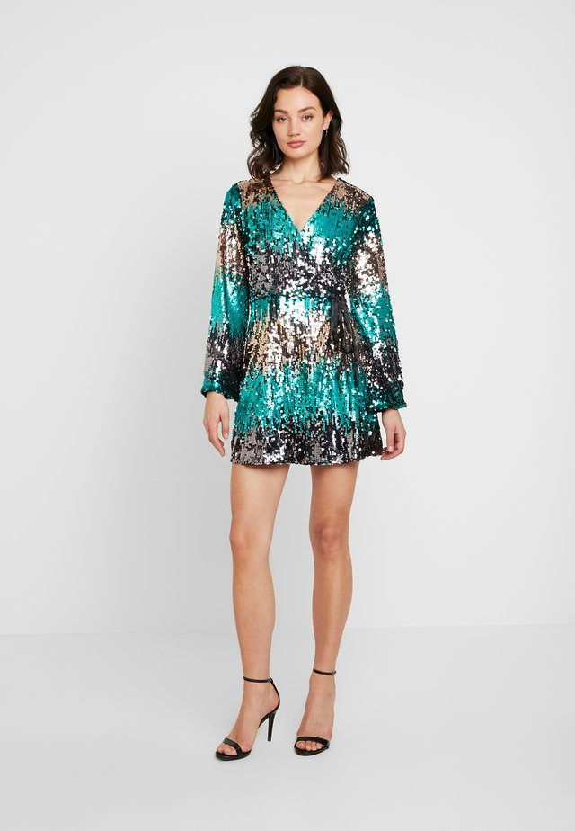OMBRE WRAP MINI DRESS - Day dress - multi