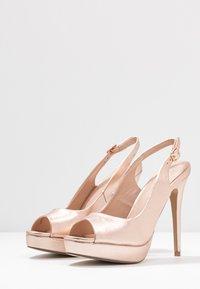 Miss Selfridge - PLATFORM COURT - Peeptoe heels - rose gold - 4