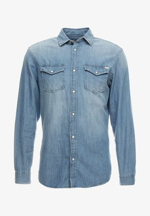 JJESHERIDAN SLIM - Overhemd - medium blue denim
