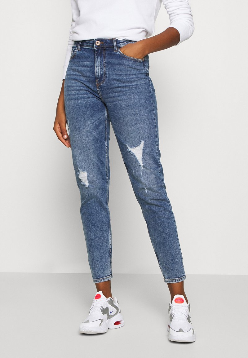 Pieces - PCKESIA MOM DESTROY - Jeansy Relaxed Fit - medium blue denim
